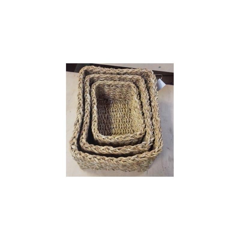 Korb-Set aus geflochtenen Holga-Blättern