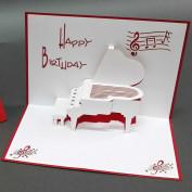 3D Pop Up Karte - Piano