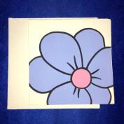 Grusskarte grosse Blume